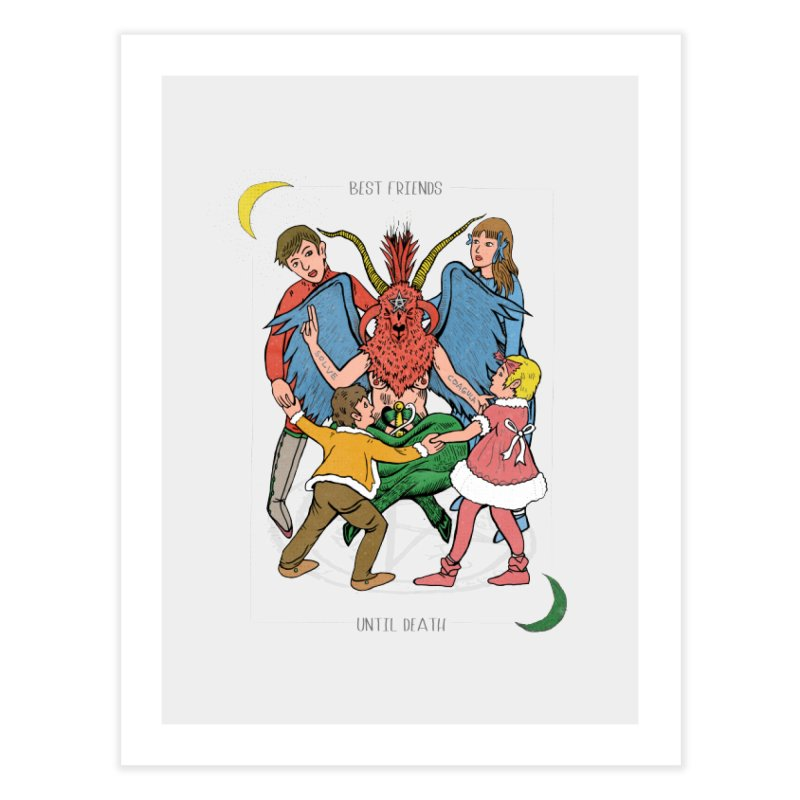 Best Friends Until Death Home Fine Art Print by miskel's Shop