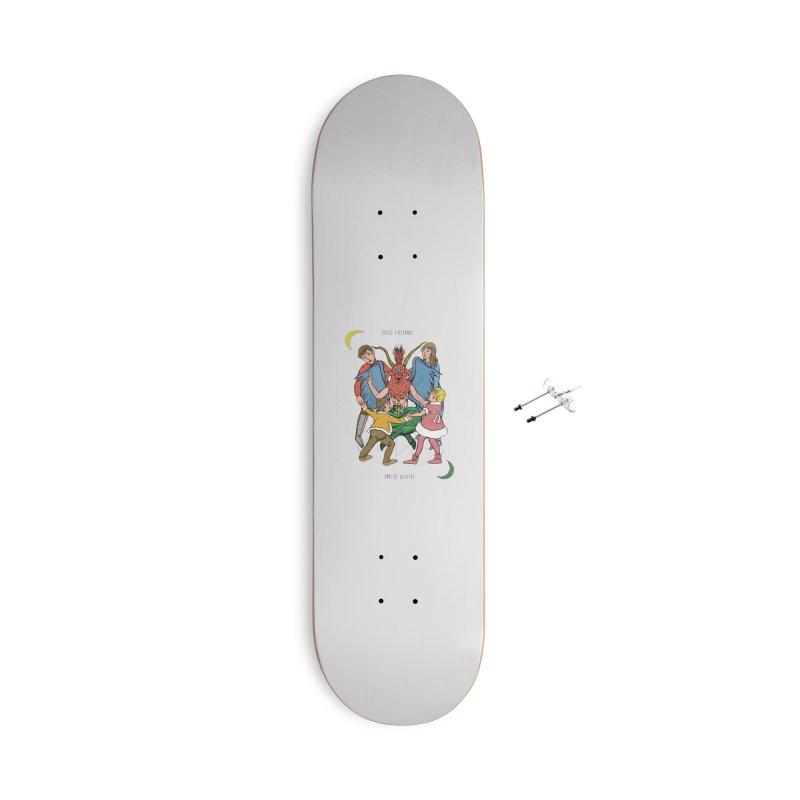 Best Friends Until Death Accessories With Hanging Hardware Skateboard by miskel's Shop