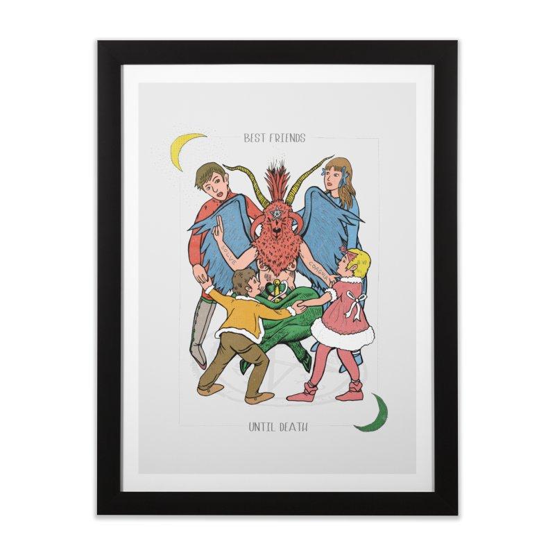 Best Friends Until Death Home Framed Fine Art Print by miskel's Shop
