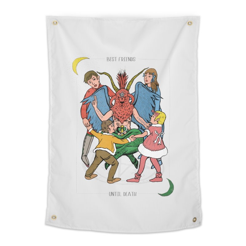 Best Friends Until Death Home Tapestry by miskel's Shop