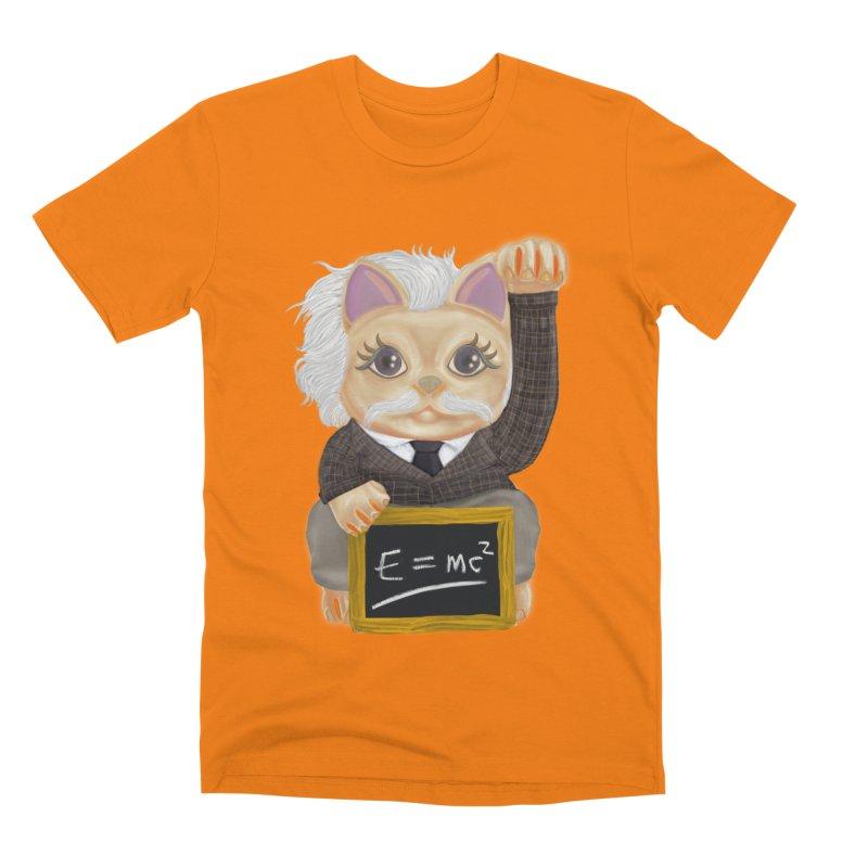 Maneki Neko Good Luck Einstein Cosplay Outfit Gift 2020 Men's T-Shirt by miskel's Shop