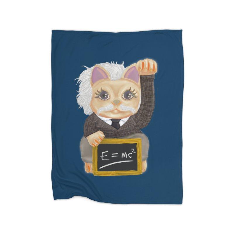 Maneki Neko Good Luck Einstein Cosplay Outfit Gift 2020 Home Blanket by miskel's Shop