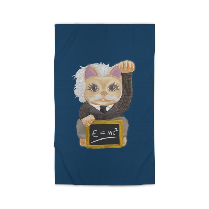 Maneki Neko Good Luck Einstein Cosplay Outfit Gift 2020 Home Rug by miskel's Shop