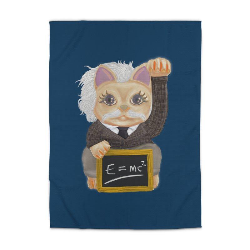 Maneki Neko Good Luck Einstein Cosplay Outfit Gift 2020 Home Rug by miskel's Shop