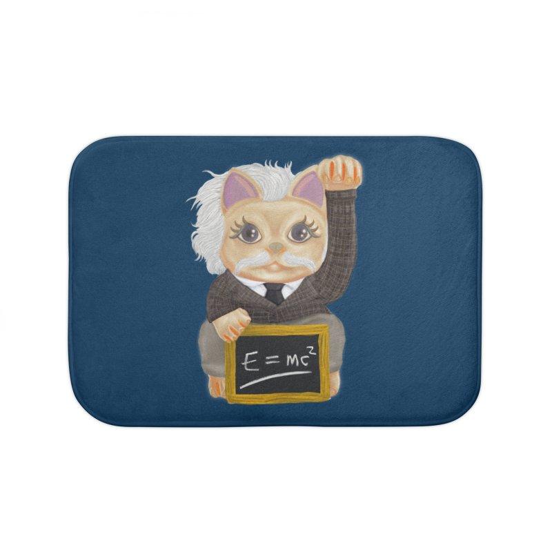 Maneki Neko Good Luck Einstein Cosplay Outfit Gift 2020 Home Bath Mat by miskel's Shop
