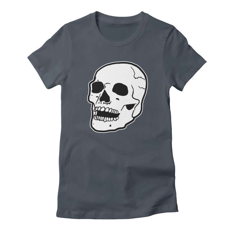 Classic Skull Women's French Terry Zip-Up Hoody by miskel's Shop