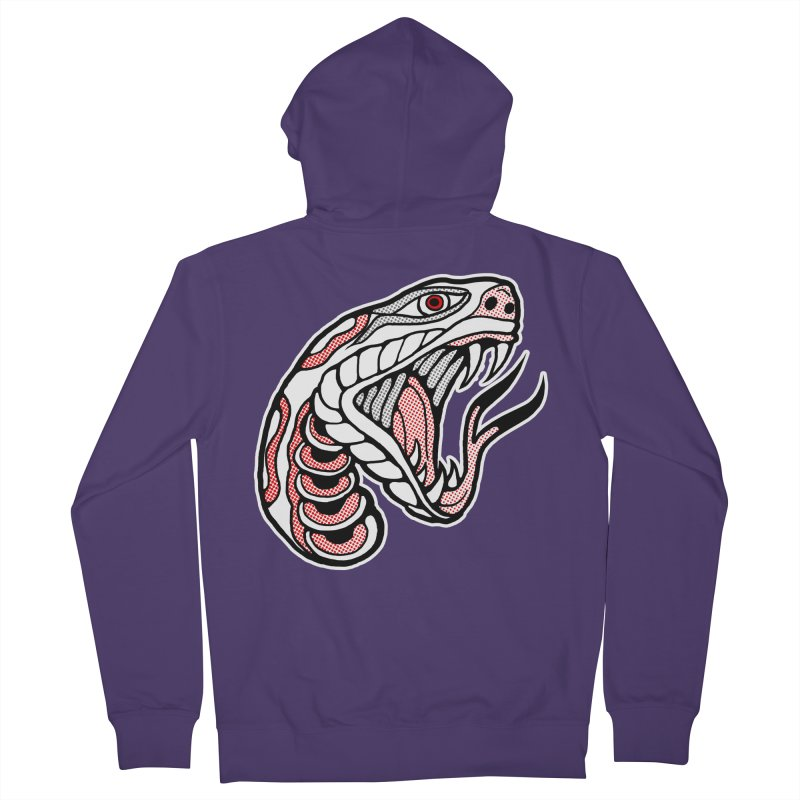 Snake Head Women's Zip-Up Hoody by miskel's Shop