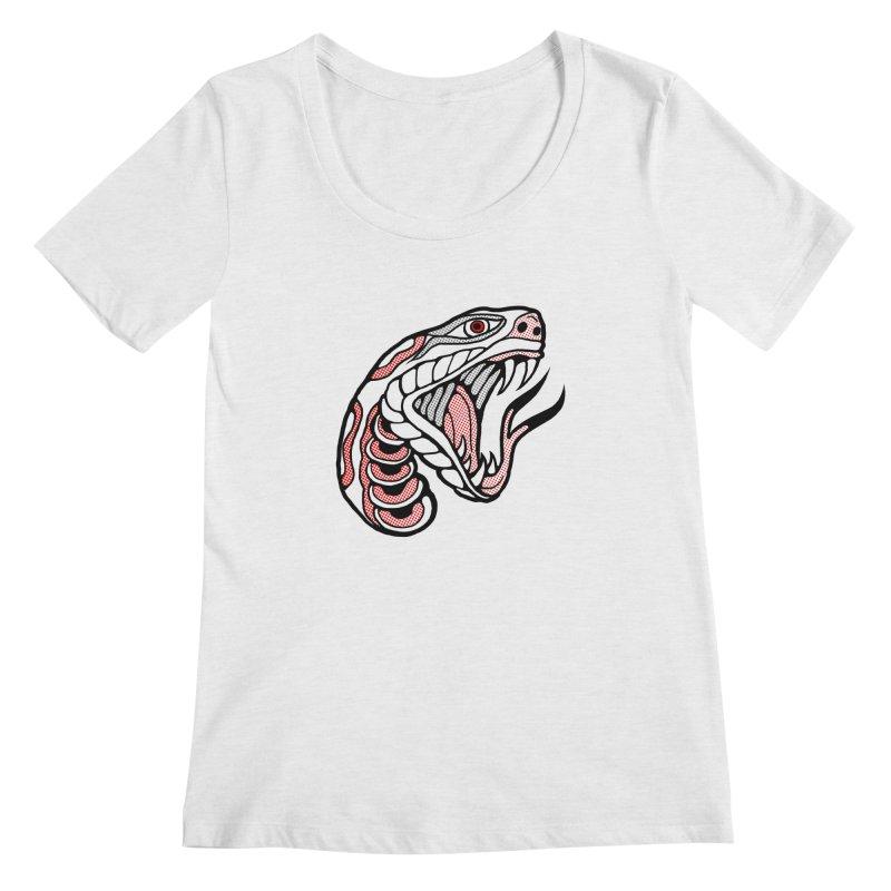 Snake Head Women's Scoop Neck by miskel's Shop