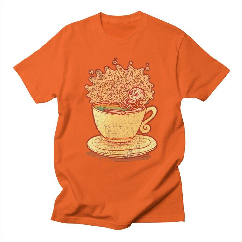 Tea Team in Men's Regular T-Shirt Orange Poppy by miskel's Shop