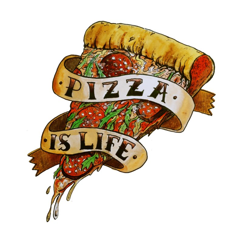 Pizza Is Life Men's V-Neck by miskel's Shop
