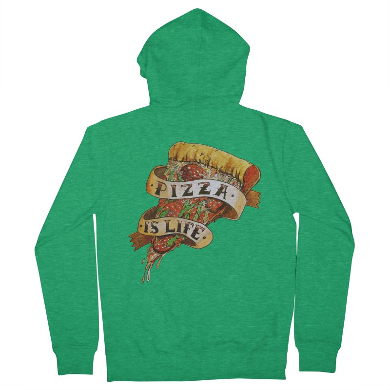 Pizza Is Life Men's Zip-Up Hoody by miskel's Shop