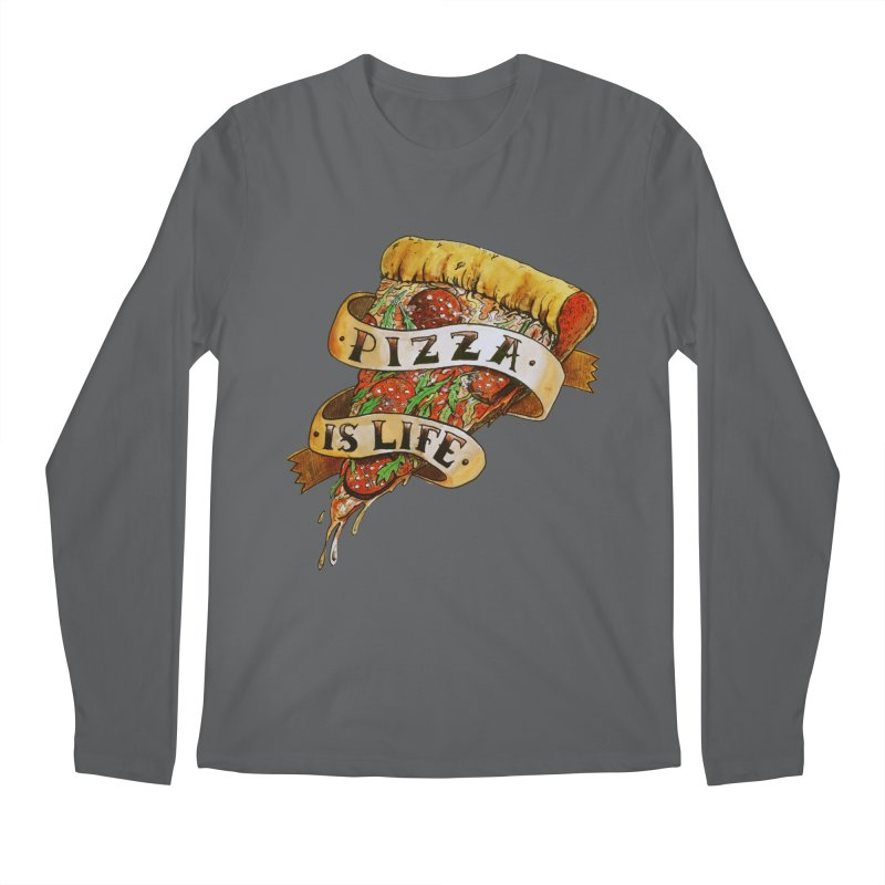 Pizza Is Life Men's Longsleeve T-Shirt by miskel's Shop