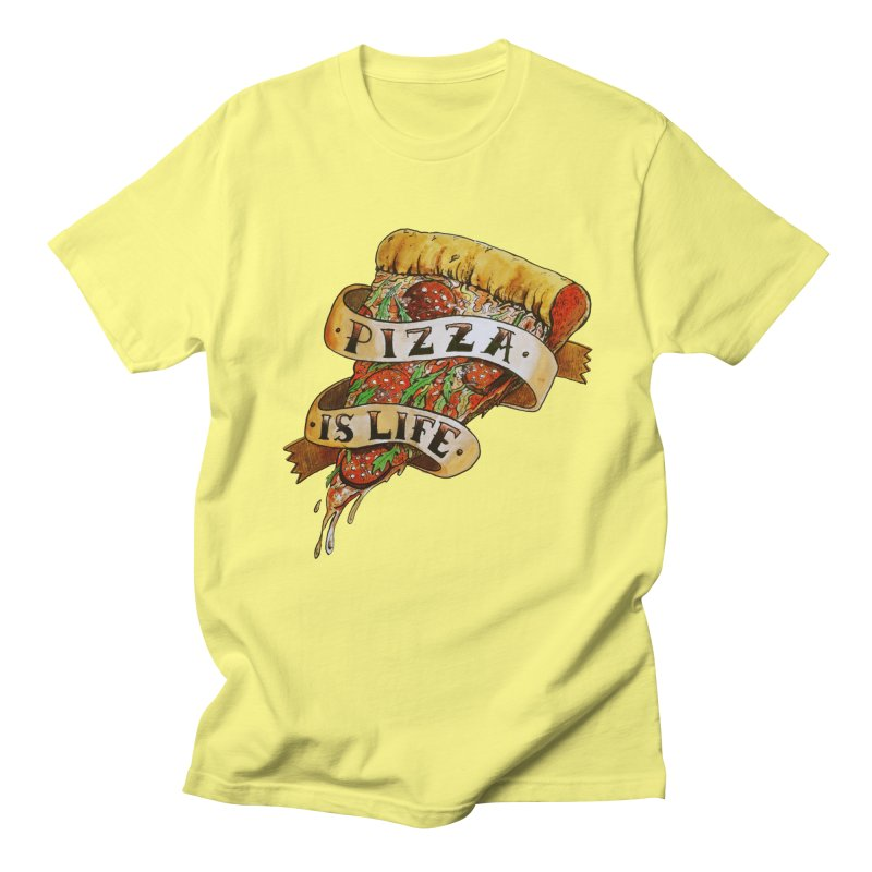 Pizza Is Life Men's T-Shirt by miskel's Shop