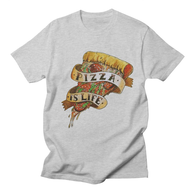 Pizza Is Life Men's Regular T-Shirt by miskel's Shop