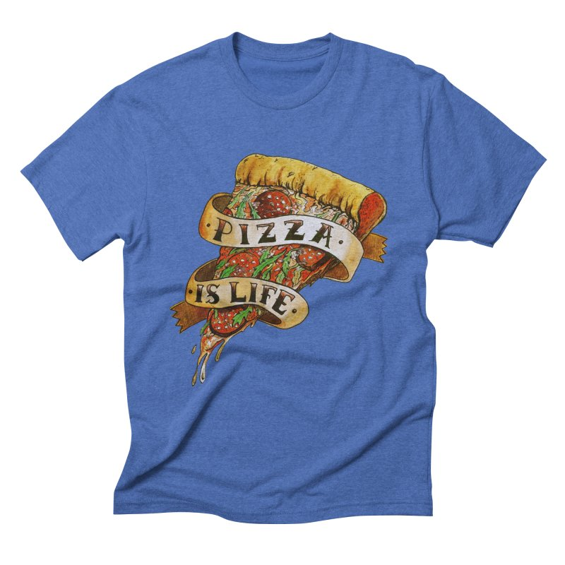Pizza Is Life Men's Triblend T-Shirt by miskel's Shop