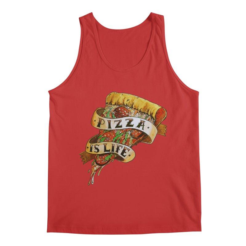 Pizza Is Life Men's Regular Tank by miskel's Shop