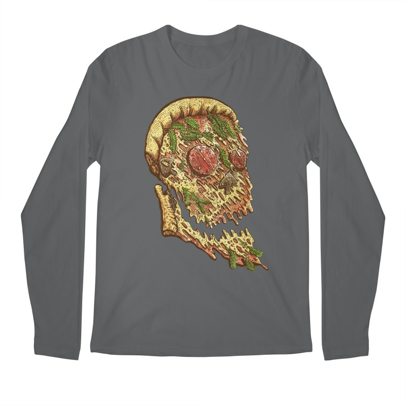 Pizza Face Men's Longsleeve T-Shirt by miskel's Shop