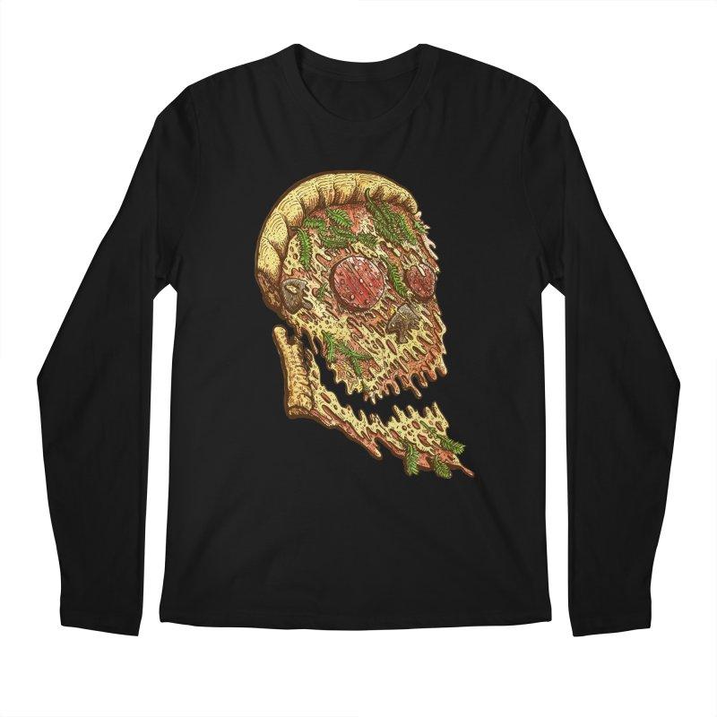Pizza Face Men's Longsleeve T-Shirt by miskel's Shop
