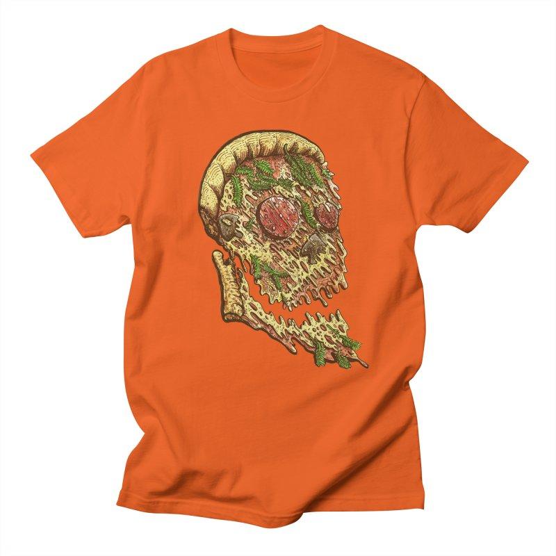 Pizza Face Men's T-Shirt by miskel's Shop