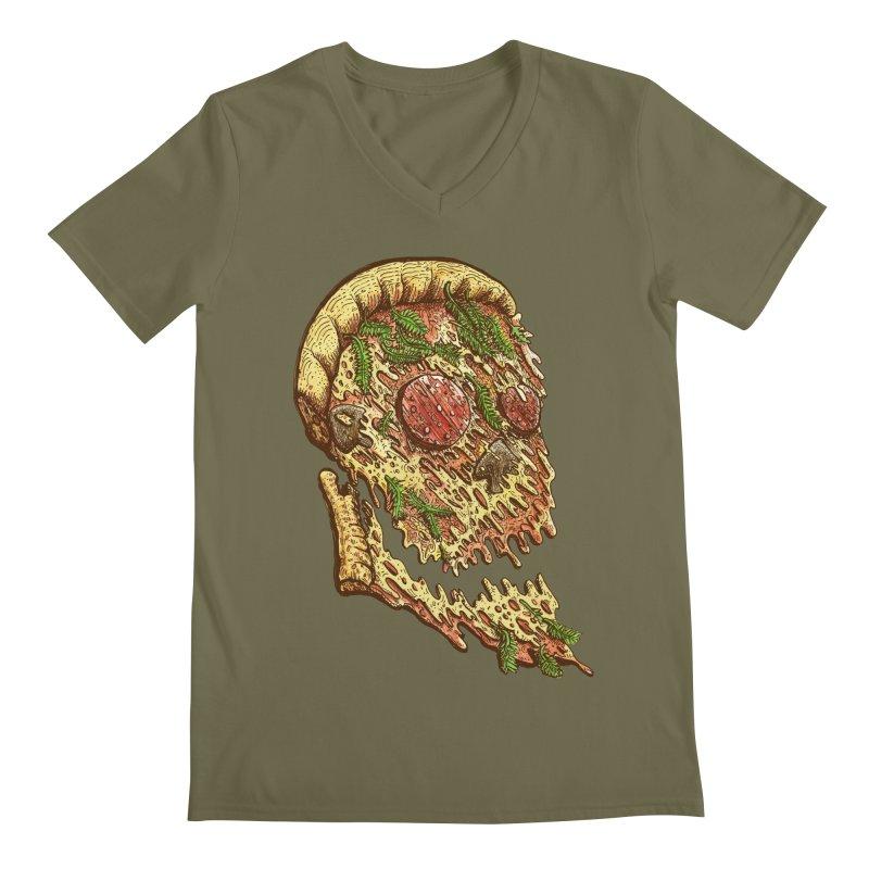 Pizza Face Men's V-Neck by miskel's Shop