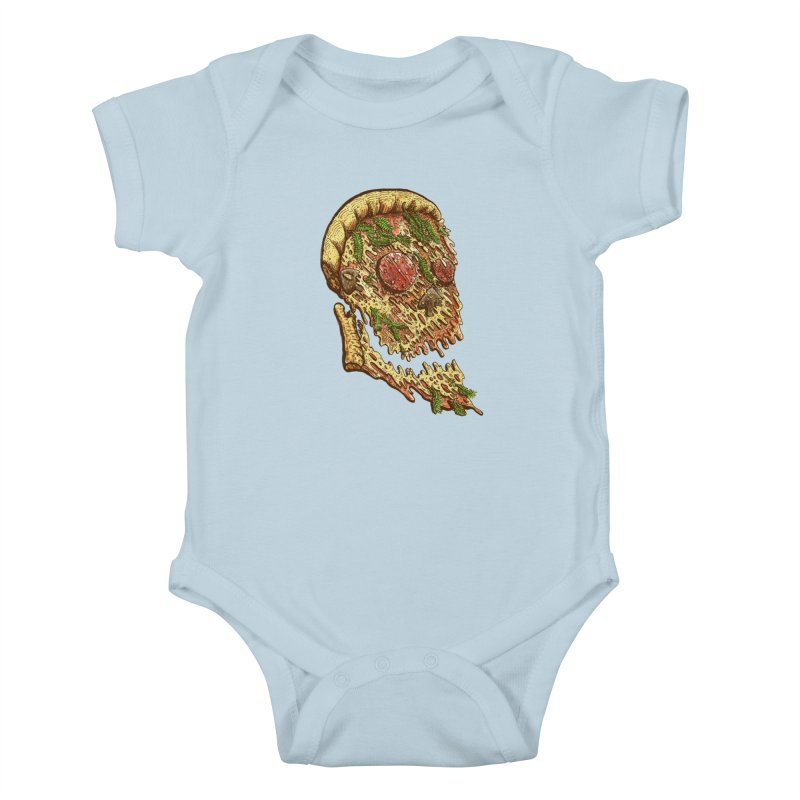 Pizza Face Kids Baby Bodysuit by miskel's Shop