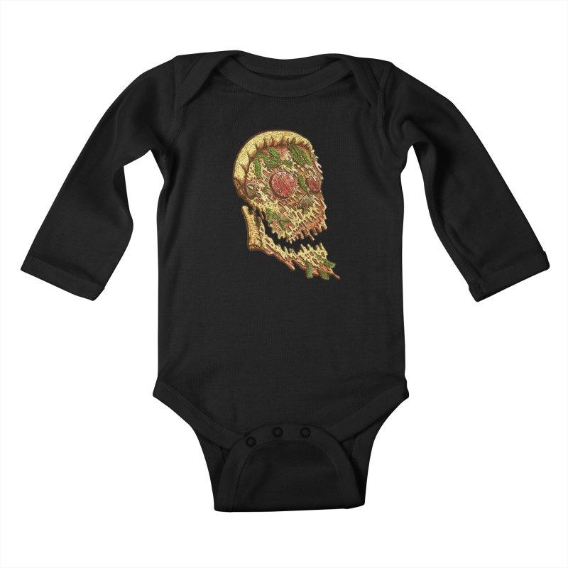 Pizza Face Kids Baby Longsleeve Bodysuit by miskel's Shop