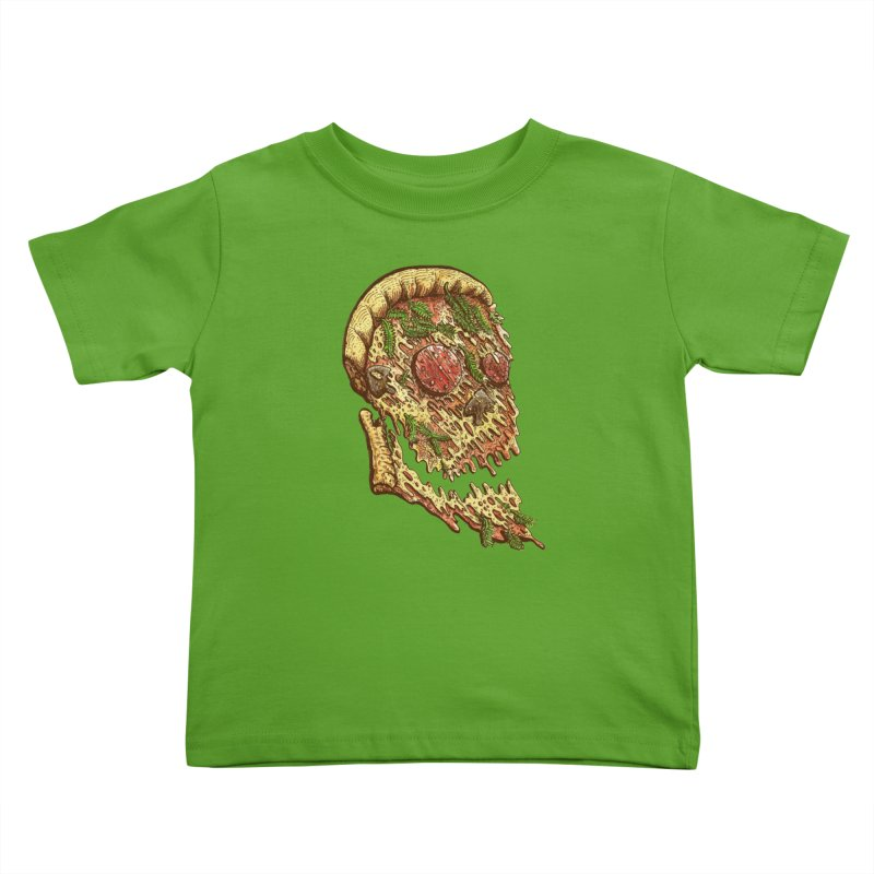 Pizza Face Kids Toddler T-Shirt by miskel's Shop