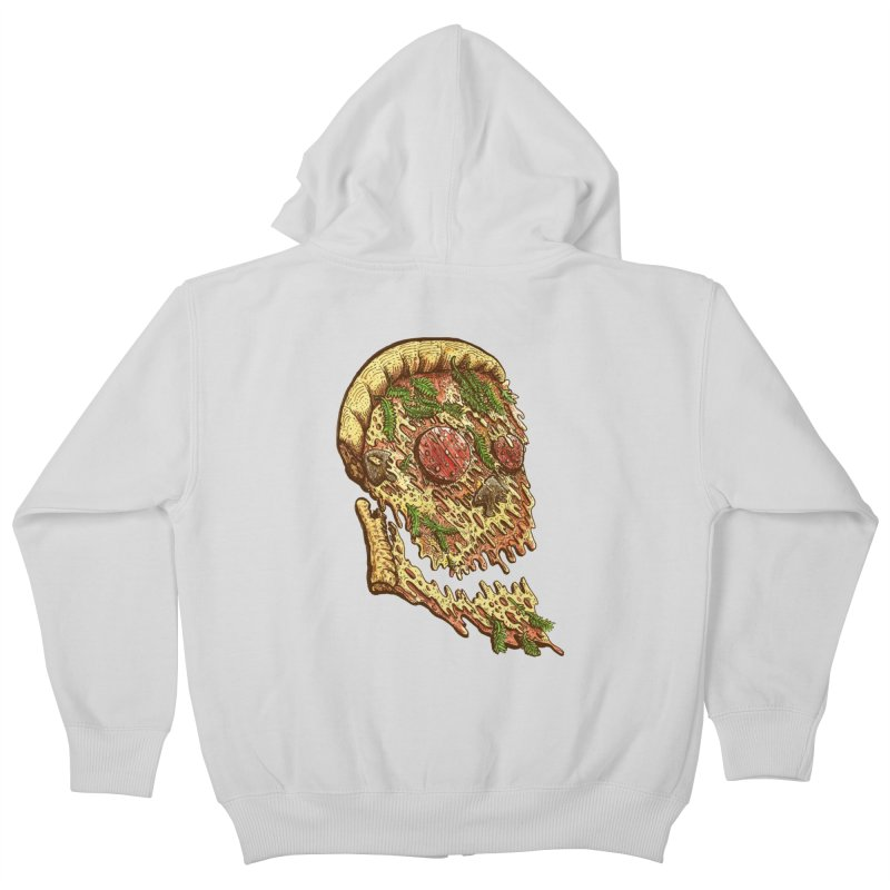 Pizza Face Kids Zip-Up Hoody by miskel's Shop