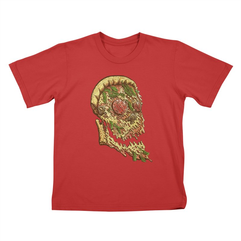 Pizza Face Kids T-Shirt by miskel's Shop
