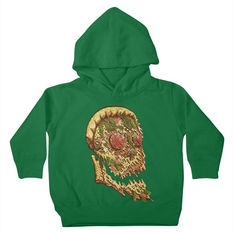 Pizza Face Kids Toddler Pullover Hoody by miskel's Shop