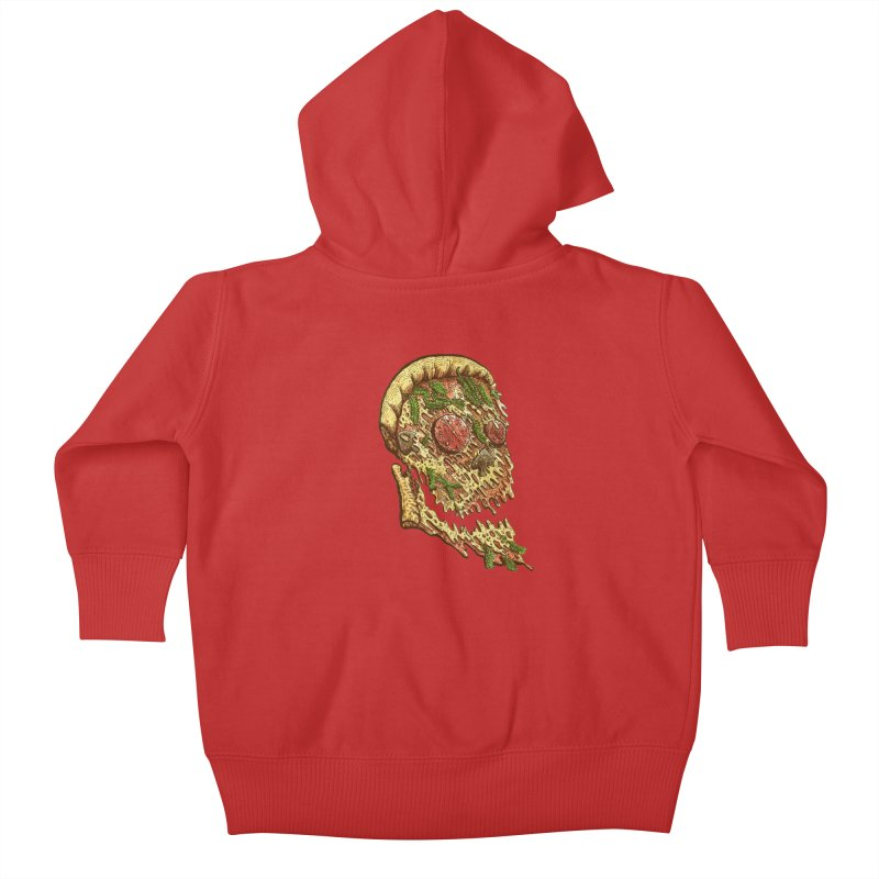 Pizza Face Kids Baby Zip-Up Hoody by miskel's Shop