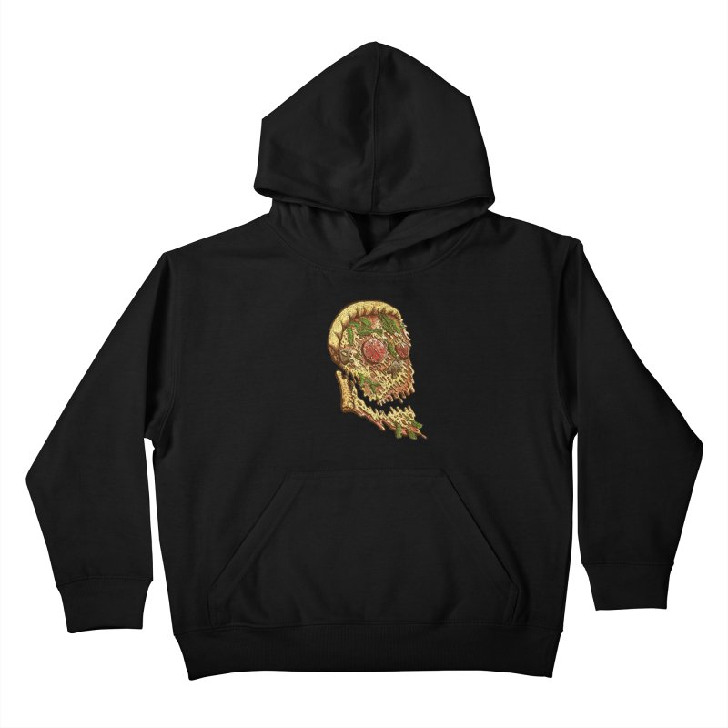 Pizza Face Kids Pullover Hoody by miskel's Shop