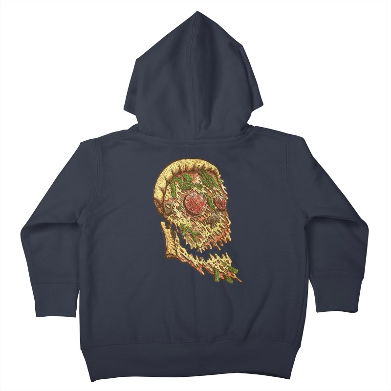 Pizza Face Kids Toddler Zip-Up Hoody by miskel's Shop
