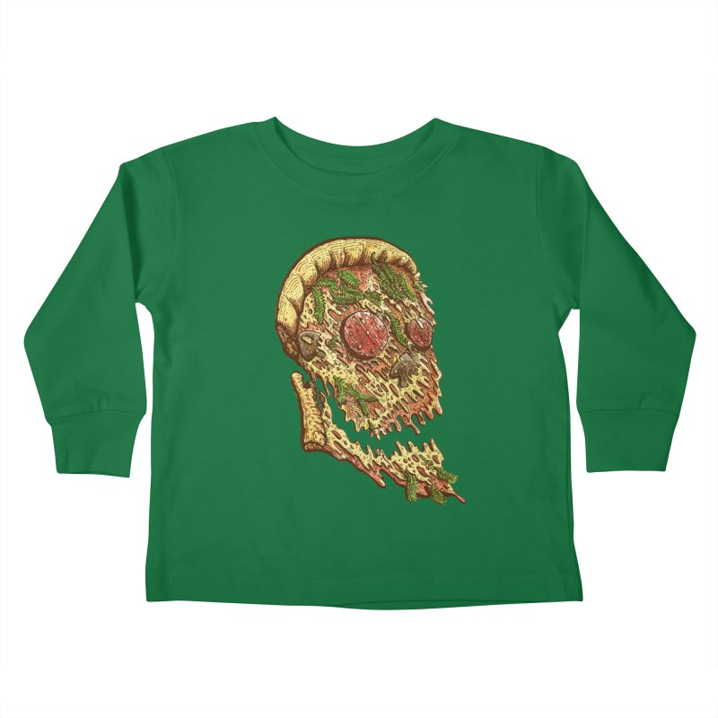 Pizza Face Kids Toddler Longsleeve T-Shirt by miskel's Shop
