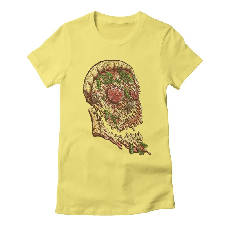 Pizza Face Women's Fitted T-Shirt by miskel's Shop