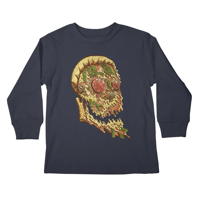 Pizza Face Kids Longsleeve T-Shirt by miskel's Shop