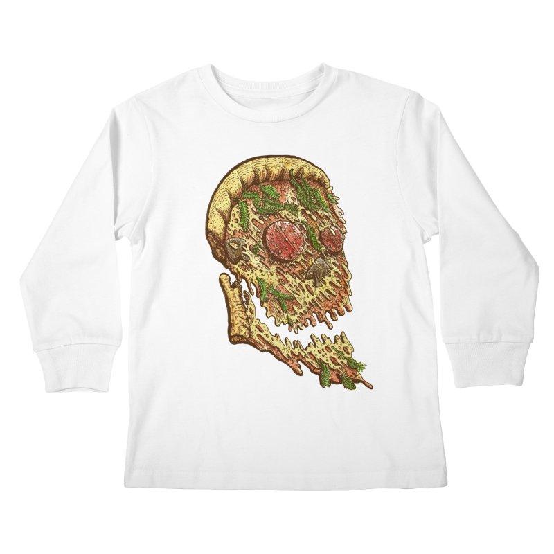 Pizza Face Kids Longsleeve T-Shirt by miskel's Shop