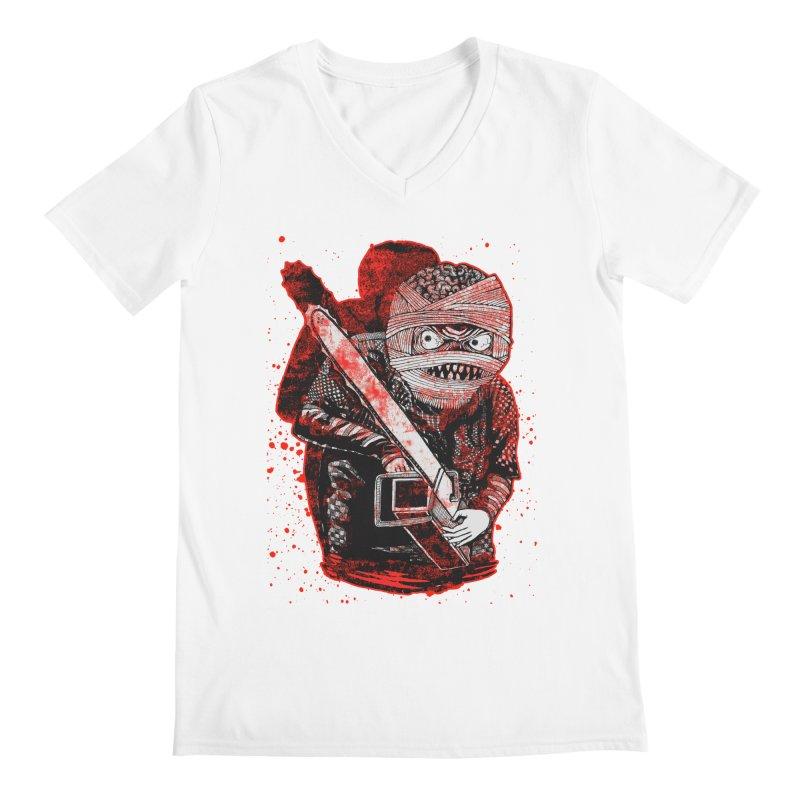 Chainsaw Mummy Men's V-Neck by miskel's Shop