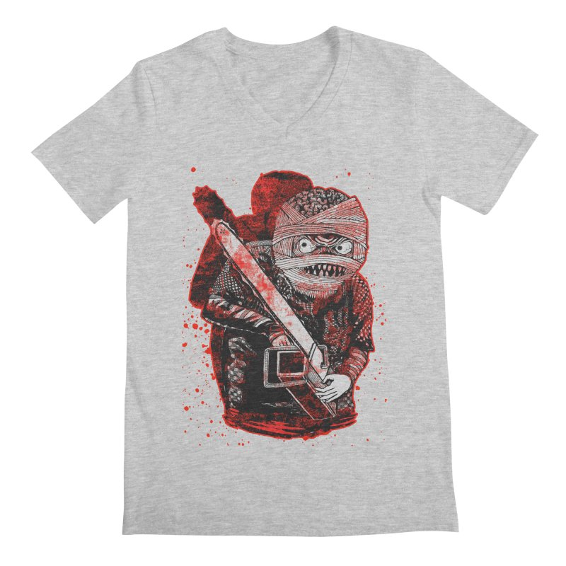 Chainsaw Mummy Men's V-Neck by miskel's Shop