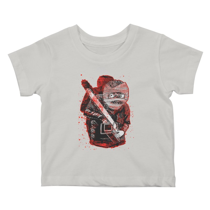 Chainsaw Mummy Kids Baby T-Shirt by miskel's Shop