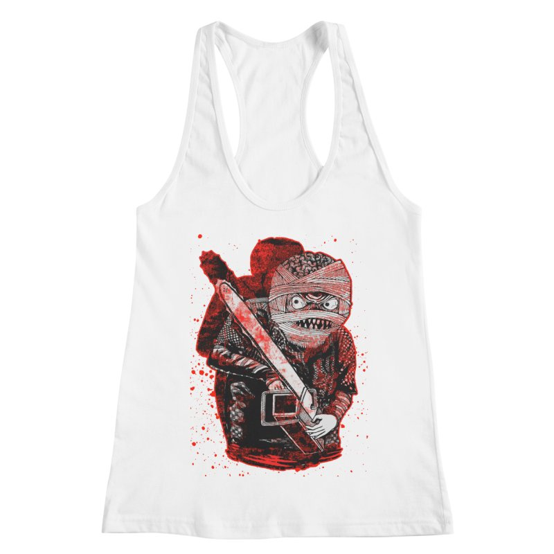 Chainsaw Mummy Women's Racerback Tank by miskel's Shop