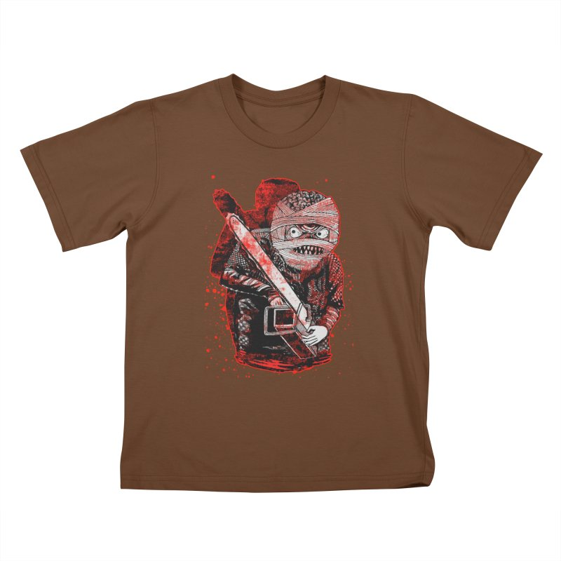 Chainsaw Mummy Kids T-Shirt by miskel's Shop