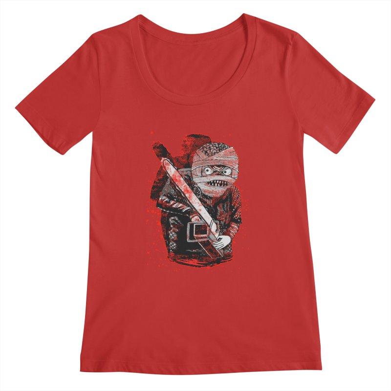 Chainsaw Mummy Women's Regular Scoop Neck by miskel's Shop