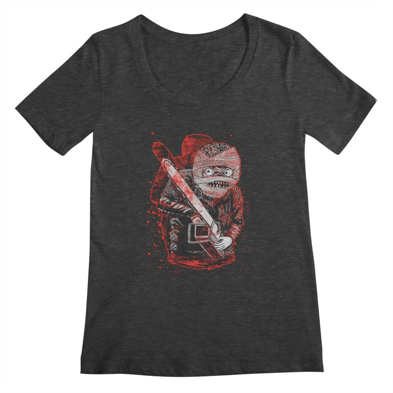 Chainsaw Mummy Women's Scoopneck by miskel's Shop