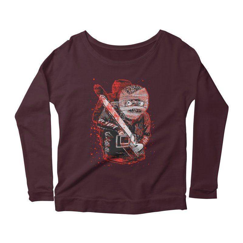 Chainsaw Mummy Women's Scoop Neck Longsleeve T-Shirt by miskel's Shop