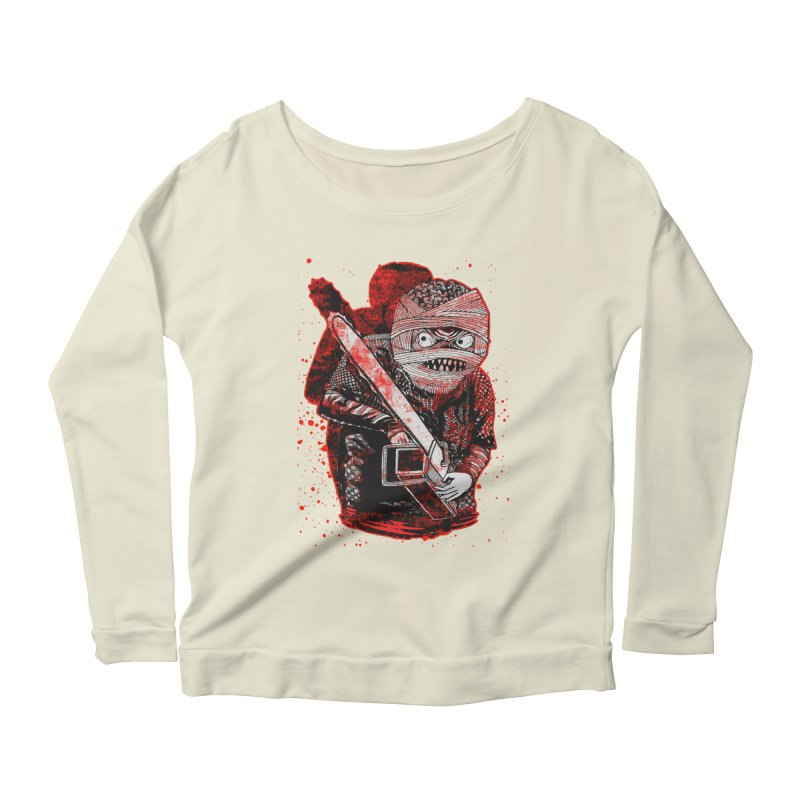Chainsaw Mummy Women's Longsleeve Scoopneck  by miskel's Shop