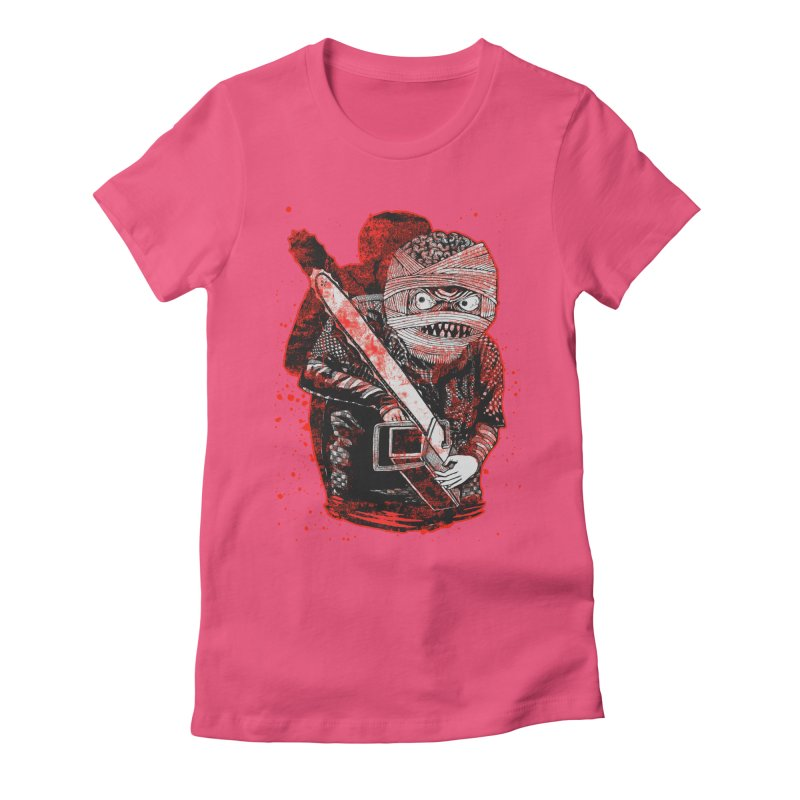 Chainsaw Mummy Women's Fitted T-Shirt by miskel's Shop