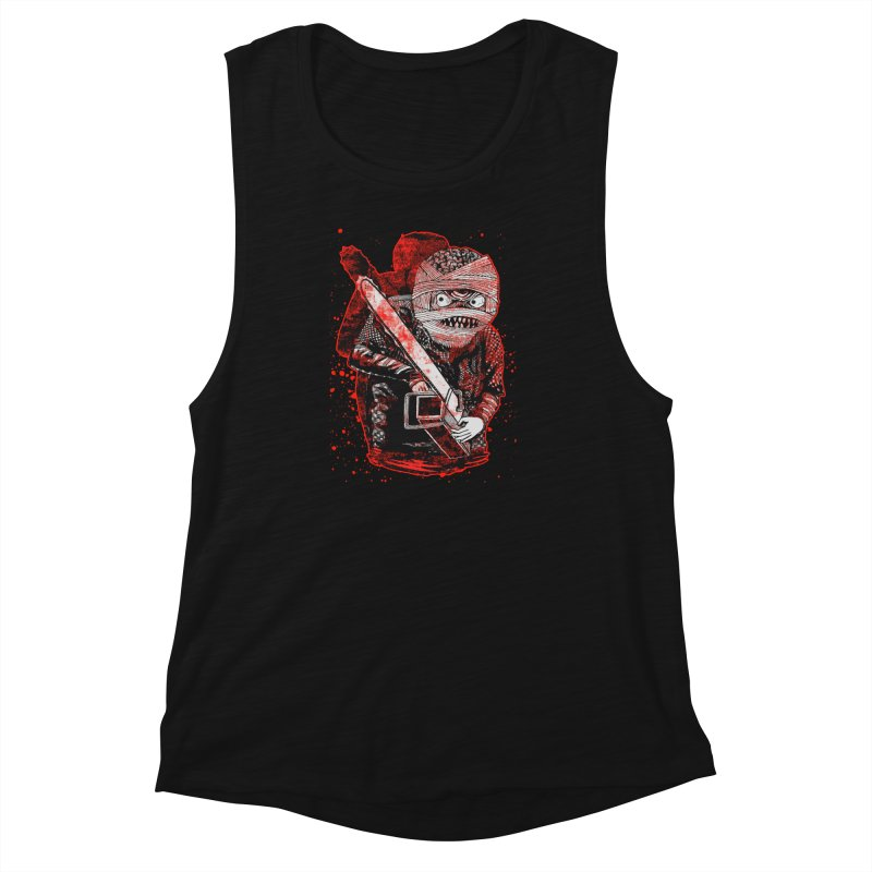 Chainsaw Mummy Women's Muscle Tank by miskel's Shop