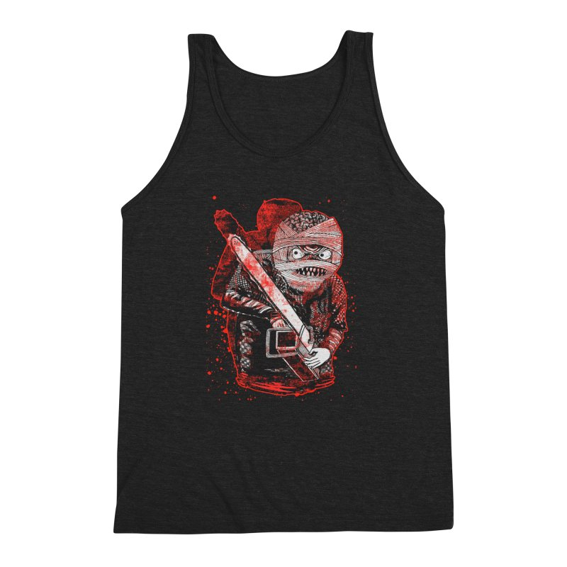 Chainsaw Mummy Men's Triblend Tank by miskel's Shop