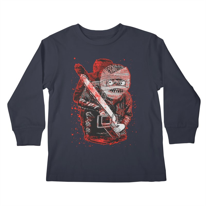 Chainsaw Mummy Kids Longsleeve T-Shirt by miskel's Shop
